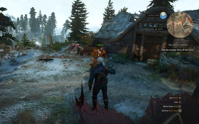 You will find Hjalmar in the nearby village - Side quests in Kaer Trolde - Kaer Trolde - The Witcher 3: Wild Hunt Game Guide & Walkthrough
