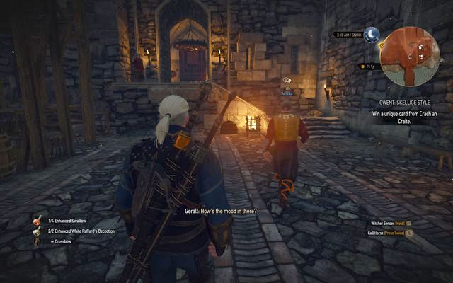 Enter the castle and follow the butler - Side quests in Kaer Trolde - Kaer Trolde - The Witcher 3: Wild Hunt Game Guide & Walkthrough
