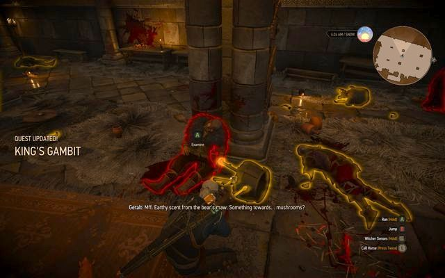 Examine the honey jug near the pillar - Side quests in Kaer Trolde - Kaer Trolde - The Witcher 3: Wild Hunt Game Guide & Walkthrough