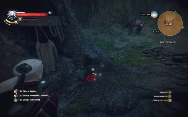Once you reach it, examine the items lying around and with the Eye of Nehaleni (the artifact received from Keira) examine the rock near those items (its more or less half the size of Geralts) - Side quests in Epilogue - Epilogue - The Witcher 3: Wild Hunt Game Guide & Walkthrough