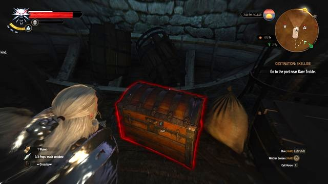 Take the letter that activates the quest. - Treasure hunt in Kaer Muire - Kaer Muire - The Witcher 3: Wild Hunt Game Guide & Walkthrough