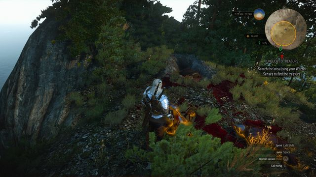 Treasure chest can be found near the bodies of two soldiers. - Treasure hunt in Northern Isles - Northern Isles - The Witcher 3: Wild Hunt Game Guide & Walkthrough