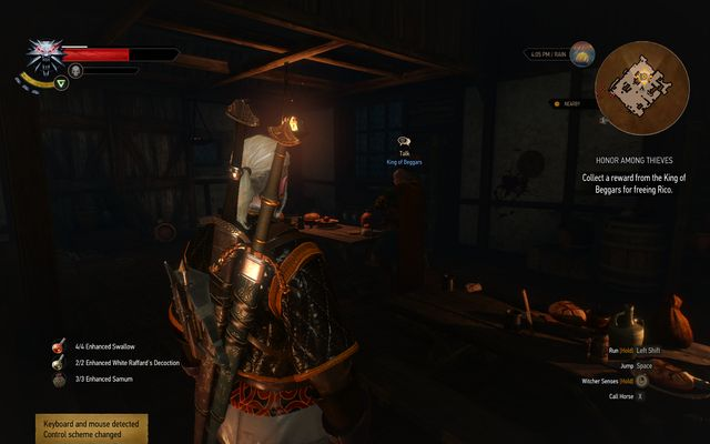 During the main quest Get Junior you will find a midget Rico on the highest floor of the casino - Side quests in Free City of Novigrad - Free City of Novigrad - The Witcher 3: Wild Hunt Game Guide & Walkthrough