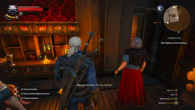 Talk to the owner, she will lead you to the meeting - Side quests in Free City of Novigrad - Free City of Novigrad - The Witcher 3: Wild Hunt Game Guide & Walkthrough