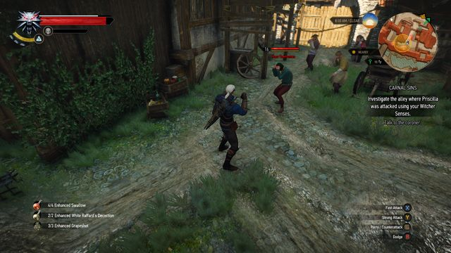 Beat the townsmen attacking you - Side quests in Free City of Novigrad - Free City of Novigrad - The Witcher 3: Wild Hunt Game Guide & Walkthrough