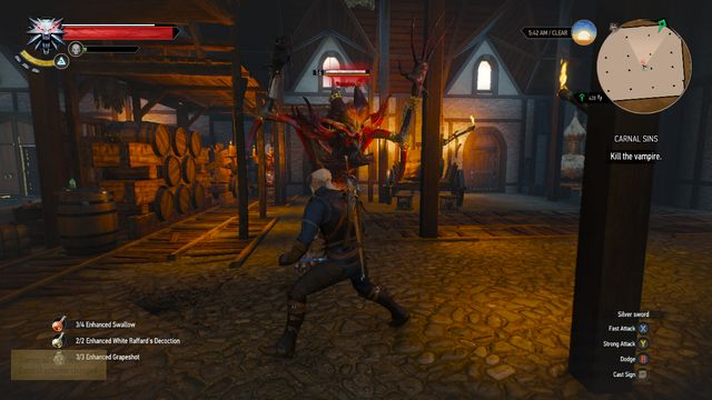 A higher vampire - the battle is similar as with any other of his kind - Side quests in Free City of Novigrad - Free City of Novigrad - The Witcher 3: Wild Hunt Game Guide & Walkthrough