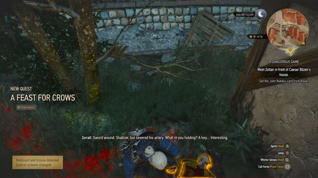 The quest will start after you examine the body of a corpse (M6,29) and the key next to him - Side quests in Free City of Novigrad - Free City of Novigrad - The Witcher 3: Wild Hunt Game Guide & Walkthrough