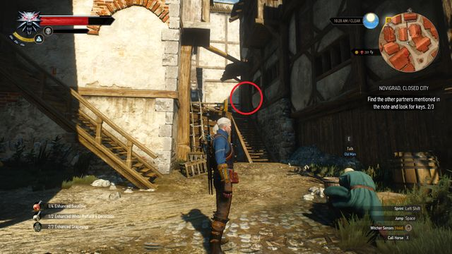 The last one can be found in the south-eastern part of the map, in a house to which you walk through the stairs - Side quests in Free City of Novigrad - Free City of Novigrad - The Witcher 3: Wild Hunt Game Guide & Walkthrough
