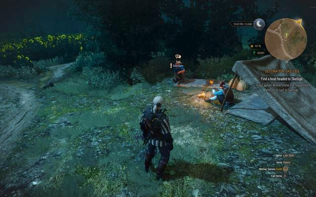 The poets partying at the fire - Side quests in Vegelbud Residence - Vegelbud Residence - The Witcher 3: Wild Hunt Game Guide & Walkthrough