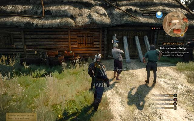 You can enter the barricaded stable only by talking with the men - Side quests in Vegelbud Residence - Vegelbud Residence - The Witcher 3: Wild Hunt Game Guide & Walkthrough