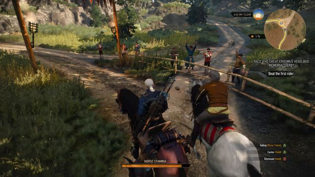 Participate in the race by talking to the organizer - Side quests in Vegelbud Residence - Vegelbud Residence - The Witcher 3: Wild Hunt Game Guide & Walkthrough