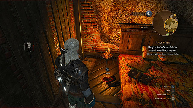 The doll lying next to the bed is one of few items you must take - Family Matters - main quest - Crows Perch - The Witcher 3: Wild Hunt Game Guide & Walkthrough