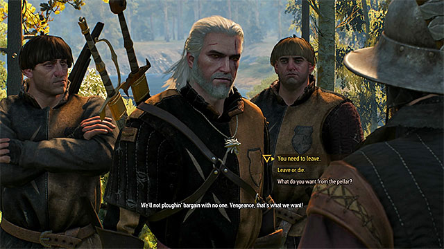 Axii sign or well-lead conversation can save you the trouble of fighting - Family Matters - main quest - Crows Perch - The Witcher 3: Wild Hunt Game Guide & Walkthrough