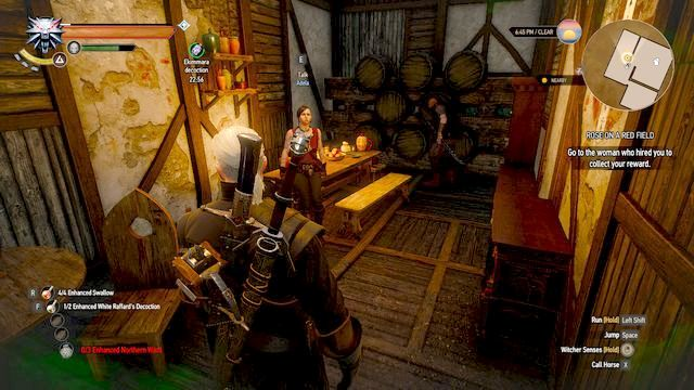 You will find Adela in Alchemy Inn - Rose on a Red Field - Side quests - The Witcher 3: Wild Hunt Game Guide & Walkthrough