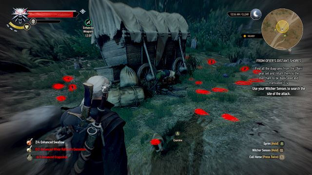 A wagon near the road - From Ofiers Distant Shores - Treasure hunts - The Witcher 3: Wild Hunt Game Guide & Walkthrough