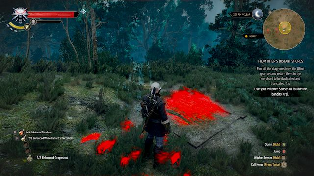 Hidden hatch to the hideout - From Ofiers Distant Shores - Treasure hunts - The Witcher 3: Wild Hunt Game Guide & Walkthrough