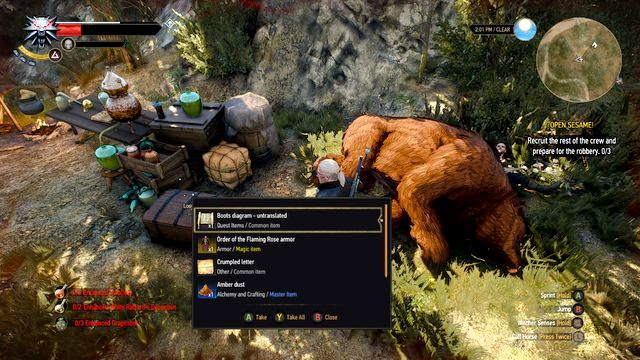 Search the chest in the camp - From Ofiers Distant Shores - Treasure hunts - The Witcher 3: Wild Hunt Game Guide & Walkthrough