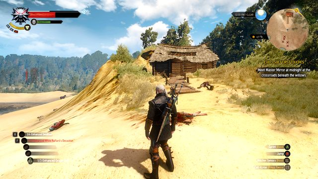 The hut on the beach - The Sword, Famine and Perfidy - Treasure hunts - The Witcher 3: Wild Hunt Game Guide & Walkthrough