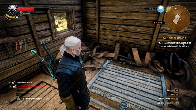 After destroying the barrels you will notice the hatch in the floor - The Sword, Famine and Perfidy - Treasure hunts - The Witcher 3: Wild Hunt Game Guide & Walkthrough