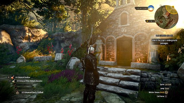 Entrance to the tomb - The Cursed Chapel - Treasure hunts - The Witcher 3: Wild Hunt Game Guide & Walkthrough