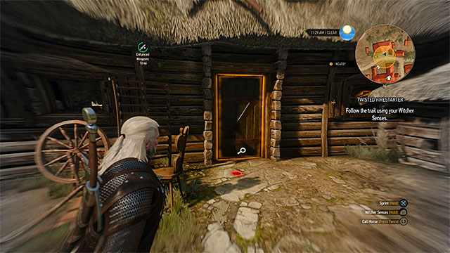Building where the firestarter is hiding - Side quests in White Orchard - Prologue and White Orchard - The Witcher 3: Wild Hunt Game Guide & Walkthrough