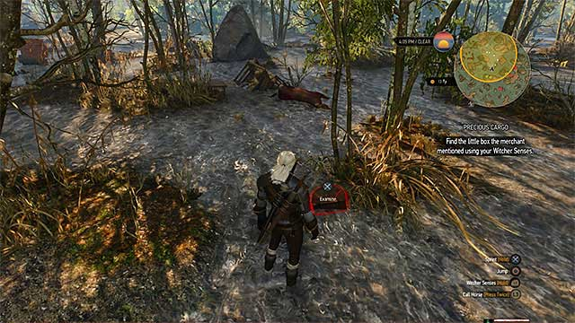 Place where you find the cargo - Side quests in White Orchard - Prologue and White Orchard - The Witcher 3: Wild Hunt Game Guide & Walkthrough