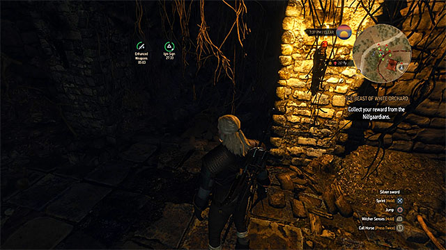 Kolgrim corpse can be found in a dark place in the crypt - Treasure hunt in White Orchard - Prologue and White Orchard - The Witcher 3: Wild Hunt Game Guide & Walkthrough