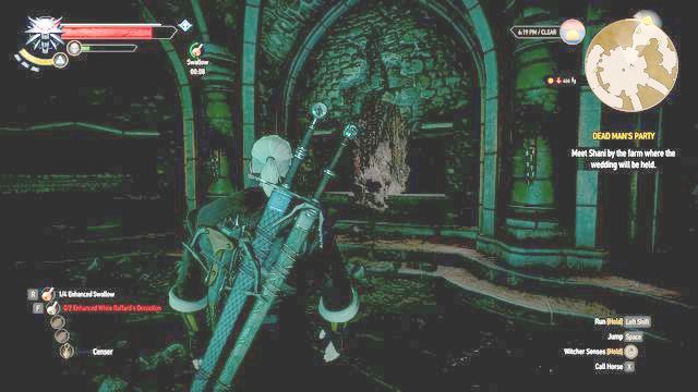 You can use Aard to damage the wall and find hidden valuables inside - Dead Mans Party - Main quests - The Witcher 3: Wild Hunt Game Guide & Walkthrough