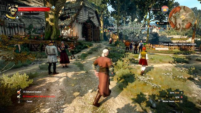 You must participate in all available activities during the wedding - Dead Mans Party - Main quests - The Witcher 3: Wild Hunt Game Guide & Walkthrough