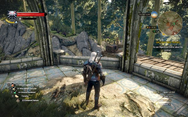 Elven ruins and the chest on the boards - New Moon gear set - Gear Sets - The Witcher 3: Wild Hunt Game Guide & Walkthrough
