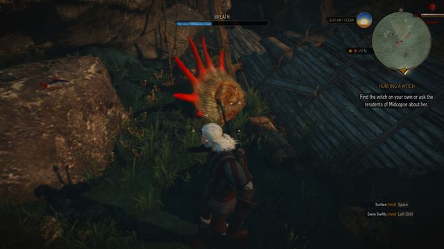 If you take the treasure and swim away quickly, the drowners shouldnt bother you too much. - Treasure hunt in Midcopse - Midcopse - The Witcher 3: Wild Hunt Game Guide & Walkthrough