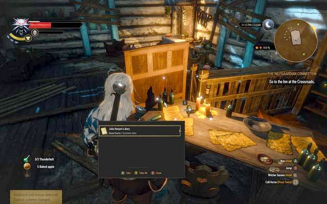 Journal on the desk in the hut - Treasure hunt in Farcorners - Farcorners - The Witcher 3: Wild Hunt Game Guide & Walkthrough