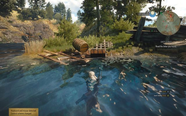 Chest on the shore and another one below, under water - Treasure hunt in Farcorners - Farcorners - The Witcher 3: Wild Hunt Game Guide & Walkthrough