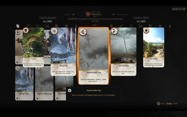 First group are weather cards - Basics of the game - Gwent game - The Witcher 3: Wild Hunt Game Guide & Walkthrough