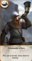 The last card is a positive one - Commanders Horn - Basics of the game - Gwent game - The Witcher 3: Wild Hunt Game Guide & Walkthrough
