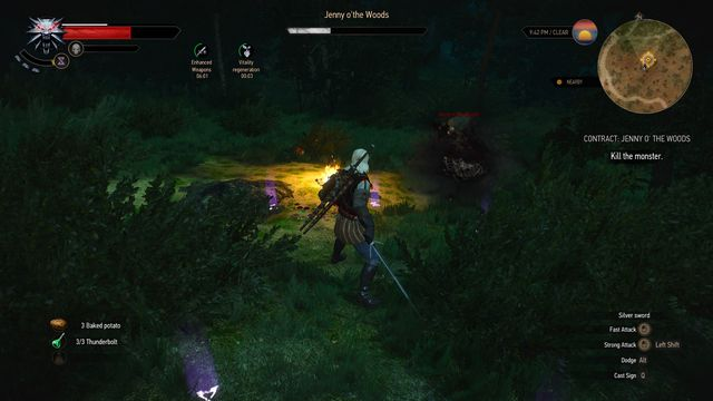 Use Yrden sign and silver sword to defeat the monster. - Witcher contracts in Midcopse - Midcopse - The Witcher 3: Wild Hunt Game Guide & Walkthrough