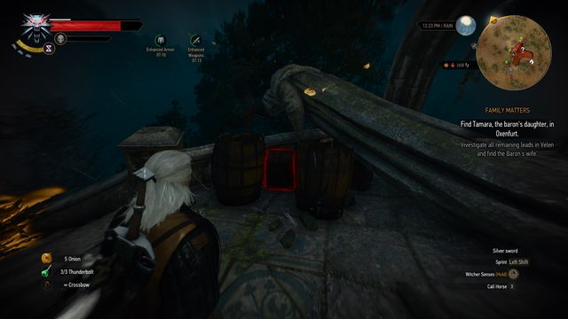 Destroy two barrels with Aard sign. - Treasure hunt in Fyke Isle - Fyke Isle - The Witcher 3: Wild Hunt Game Guide & Walkthrough