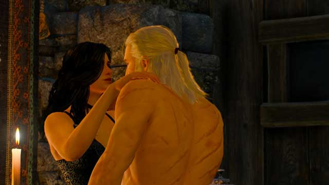 After a short meeting at the table, Yen will encourage the witcher to visit Mousesack chamber and steal the mysterious Mask of Uroboros - Romances with Sorceresses in The Witcher III - Romances and love scenes - The Witcher 3: Wild Hunt Game Guide & Walkthrough