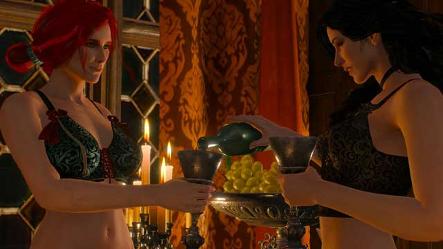 Ladies must have talked behind Geralt back as they know that he has expressed his feelings to both of them - Romances with Sorceresses in The Witcher III - Romances and love scenes - The Witcher 3: Wild Hunt Game Guide & Walkthrough