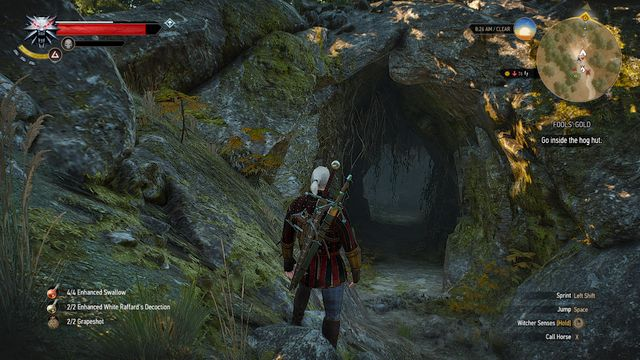 Entrance to the cave - Fools Gold - Free DLC - The Witcher 3: Wild Hunt Game Guide & Walkthrough