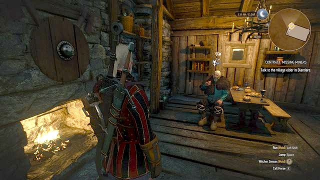 The questgiver - Contract: Missing Miners - Free DLC - The Witcher 3: Wild Hunt Game Guide & Walkthrough