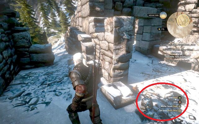 Keep running through the southern edge of the ruins right into the destroyed annexe - Basic Bear School Gear - Bear School Gear - The Witcher 3: Wild Hunt Game Guide & Walkthrough