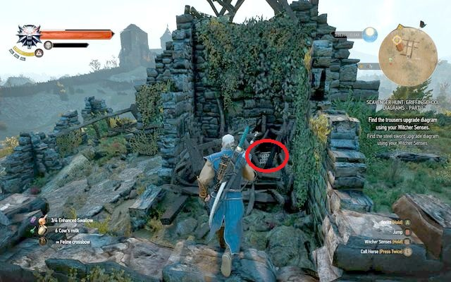 Approach the ruins from the west - Enhanced Griffin School Gear - Griffin School Gear - The Witcher 3: Wild Hunt Game Guide & Walkthrough