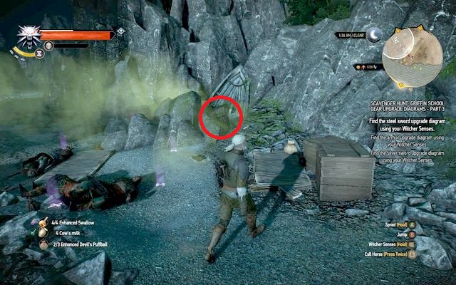Fight this group and approach the rocks - Superior Griffin School Gear - Griffin School Gear - The Witcher 3: Wild Hunt Game Guide & Walkthrough