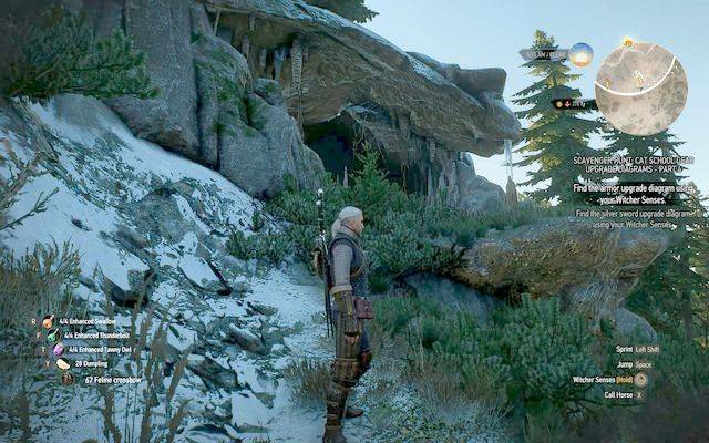 Cave entrance - Mastercrafted Cat School Gear - Cat School Gear - The Witcher 3: Wild Hunt Game Guide & Walkthrough