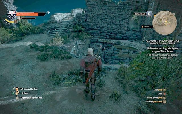 Northern entrance - Superior Wolf School Gear (DLC) - Wolf School Gear (DLC) - The Witcher 3: Wild Hunt Game Guide & Walkthrough