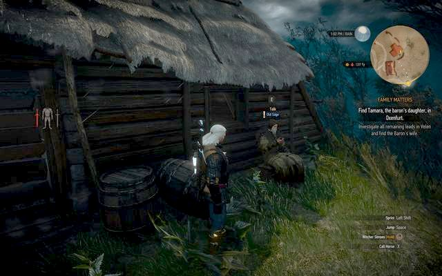 Old Sage in Benek village - Side quests in Crookback Bog - Crookback Bog - The Witcher 3: Wild Hunt Game Guide & Walkthrough