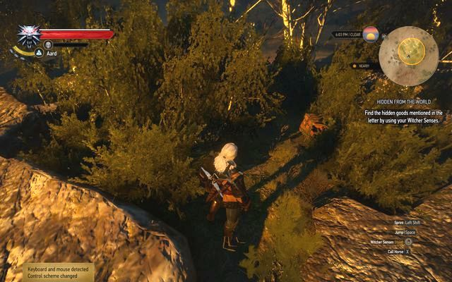The place of the treasure described in the letter - Treasure hunt in Crookback Bog - Crookback Bog - The Witcher 3: Wild Hunt Game Guide & Walkthrough