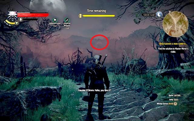 However, if you have completed the side quest and you know how to defeat Gaunter, you can interrupt him in attacking Olgierd - Whatsoever a Man Soweth... - Main quests - The Witcher 3: Wild Hunt Game Guide & Walkthrough