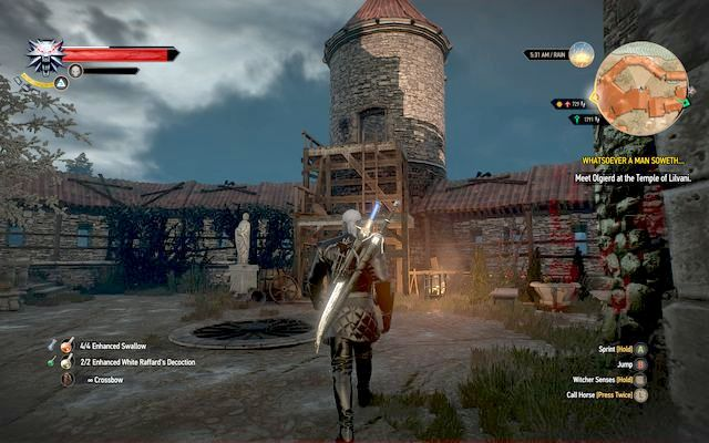 The tower is your way out of the location - Whatsoever a Man Soweth... - Main quests - The Witcher 3: Wild Hunt Game Guide & Walkthrough